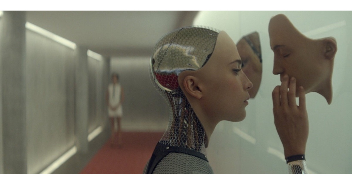 Alicia Vikander as the Andoid/AI in Ex Machina.