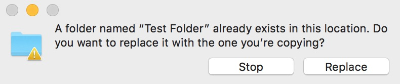 No Merge Option in Mac Finder Dialog if files with the same name are in both folders