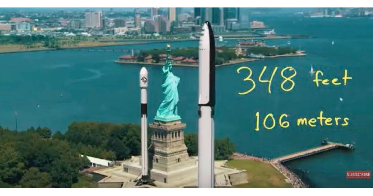 SpaceX BFR size comparison.