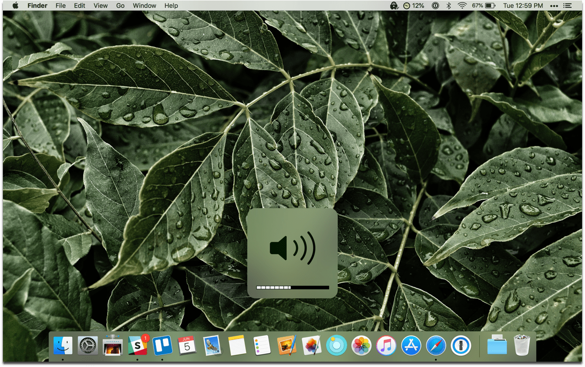 Screenshot of the volume HUD. You can adjust sound and brightness in quarters.