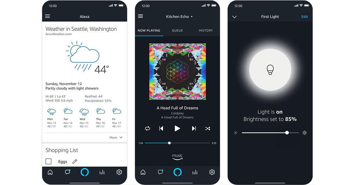 Alexa App on iOS