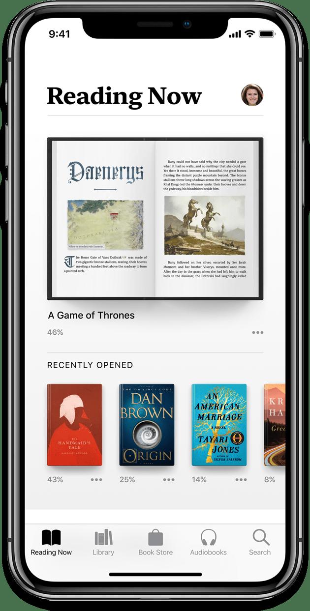 Screenshot of Apple Books in iOS 12.