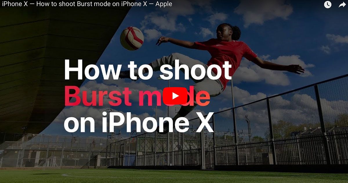 How to shoot in burst mode screenshot