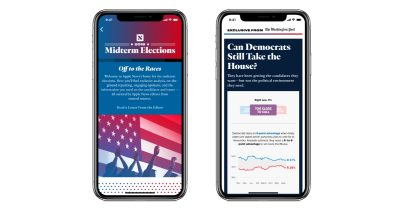 Apple News 2018 Midterm Elections coverage section on iPhone