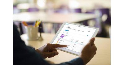Apple Schoolwork app on iPad