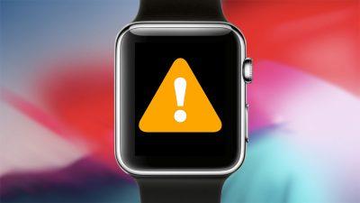 apple watch error