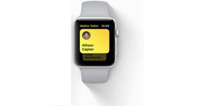 watchOS 5 Walkie-Talkie feature on Apple Watch
