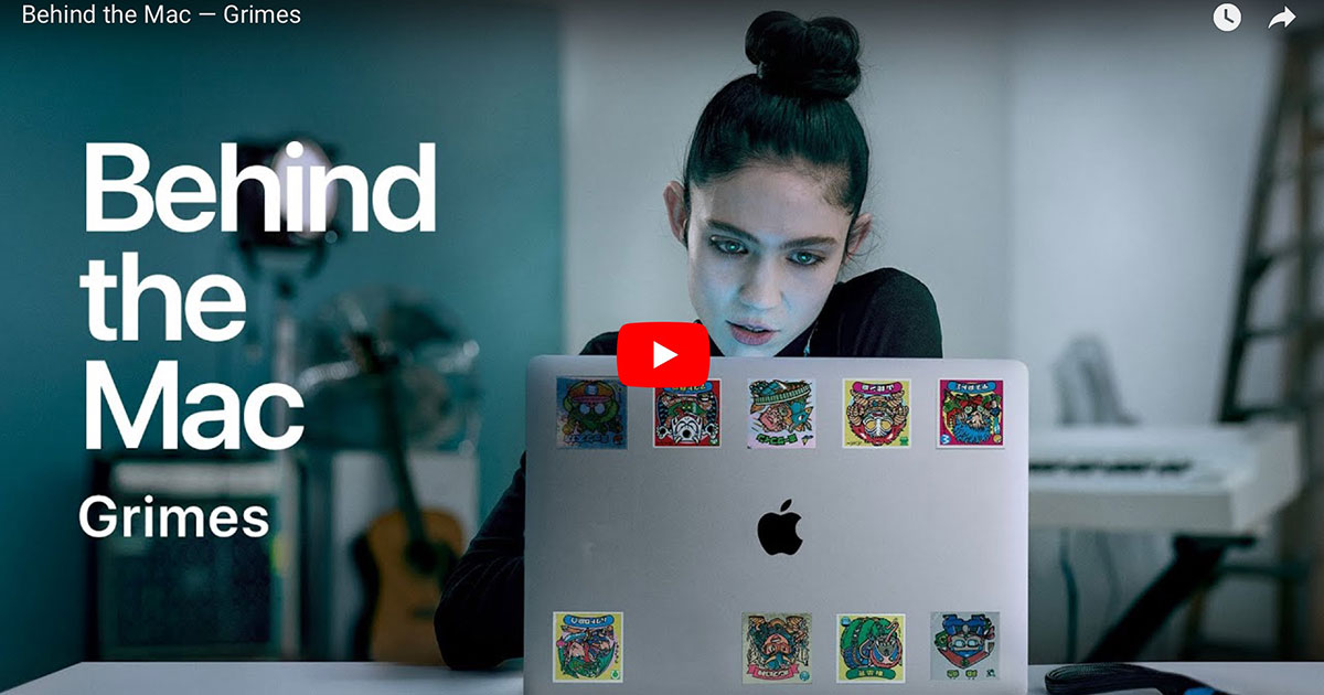 """Screenshot from Apple Commercial """"Behind the Mac - Grimes"""""""
