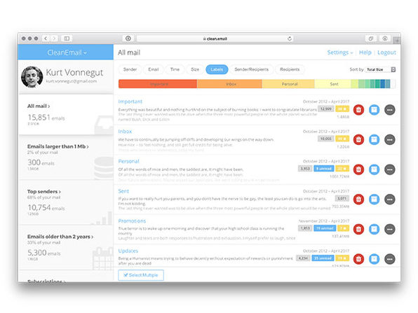 CleanEmail 1-Year Subscription: $19.99