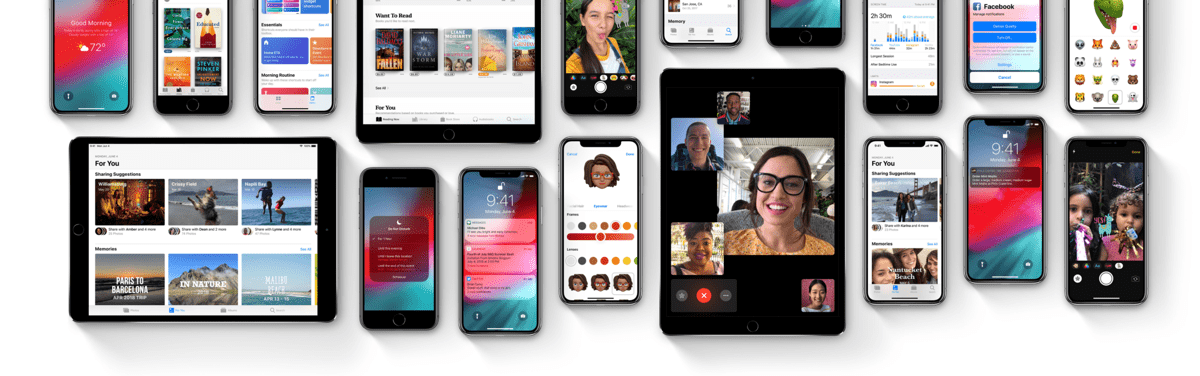 Image of devices supported by iOS 12.