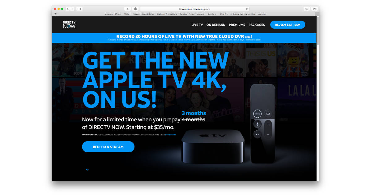 DirecTV Extends Free Apple TV 4K Deal to June 8