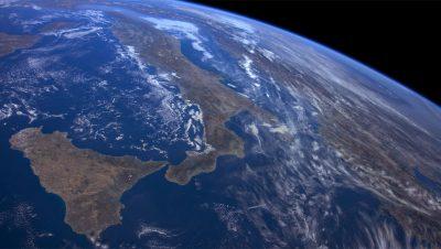 Screenshot from Earth Aerial Shot in tvOS 12