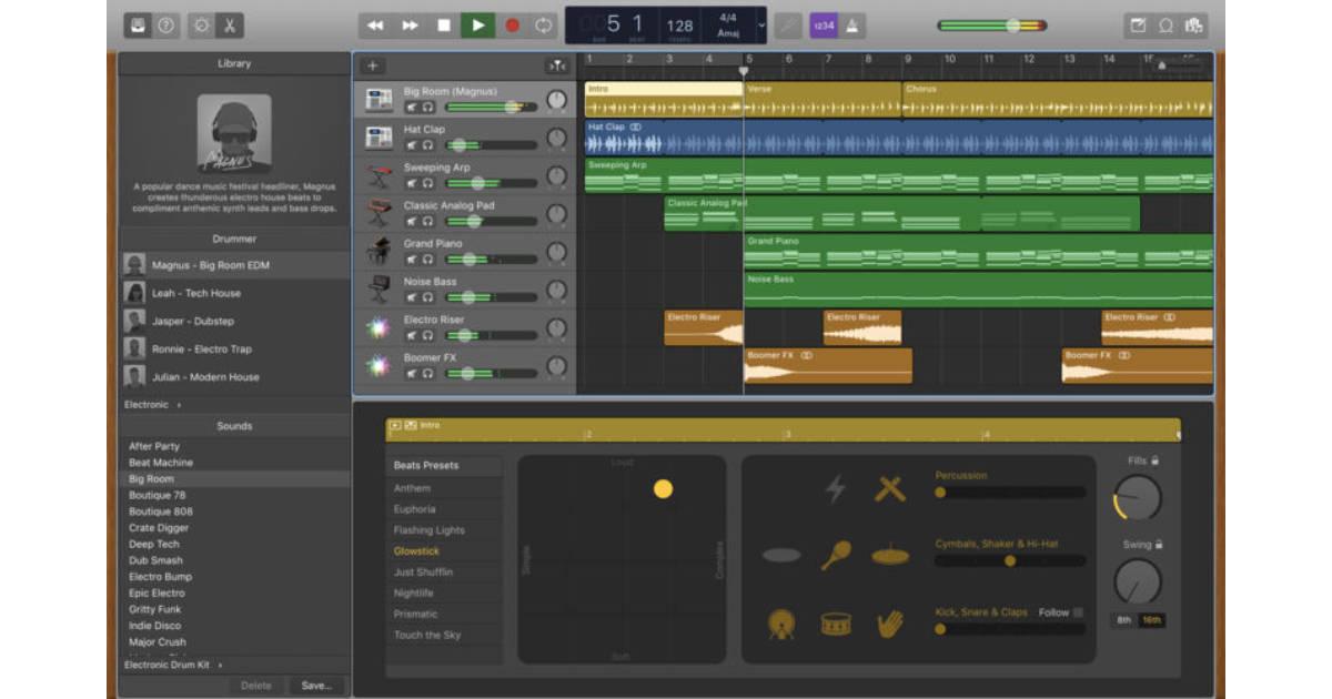GarageBand 10 for the Mac