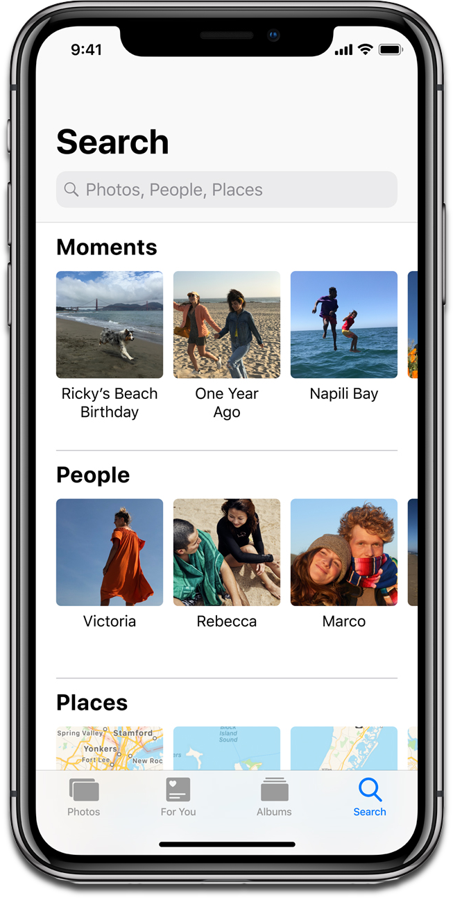Screenshot of iOS 12 Photos.