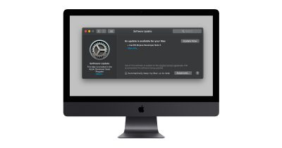 iMac with macOS Mojave Software Update Preferences