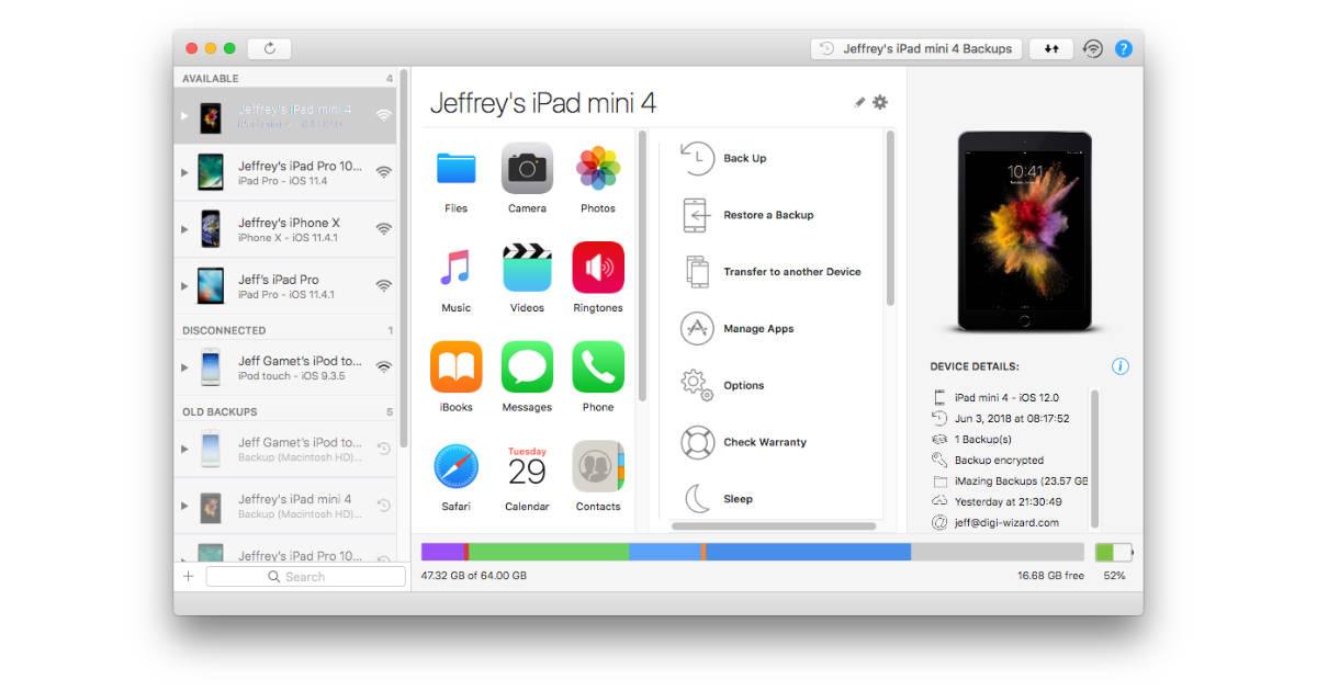 iMazing Adds iOS 12 Beta Backup Support