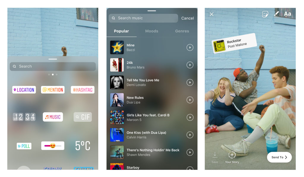 Instagram Lets People Add Music to Stories