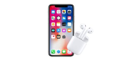 iPhone X and AirPods