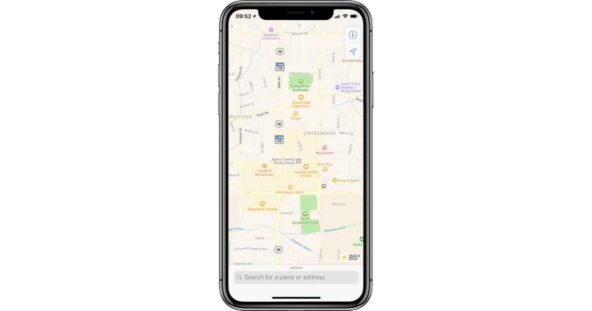 Apple Maps Continues to Gain Detailed Terrain Data