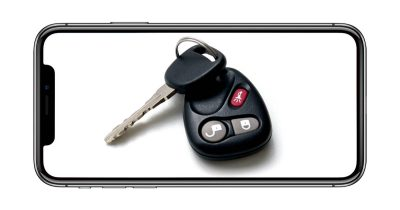 iPhone with car key for Digital Key 2.0 specification