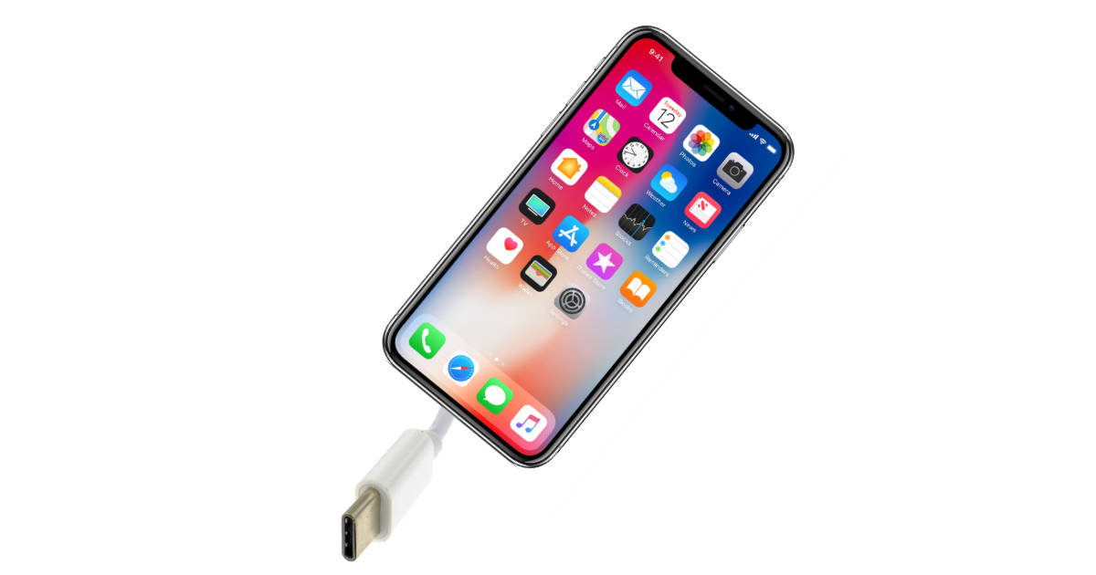 USB-C iPhone mockup