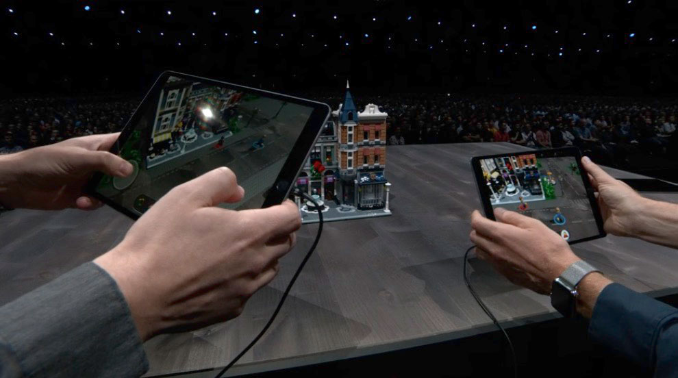 Shared Experience in LEGO Game Using ARKit 2 at WWDC 2018