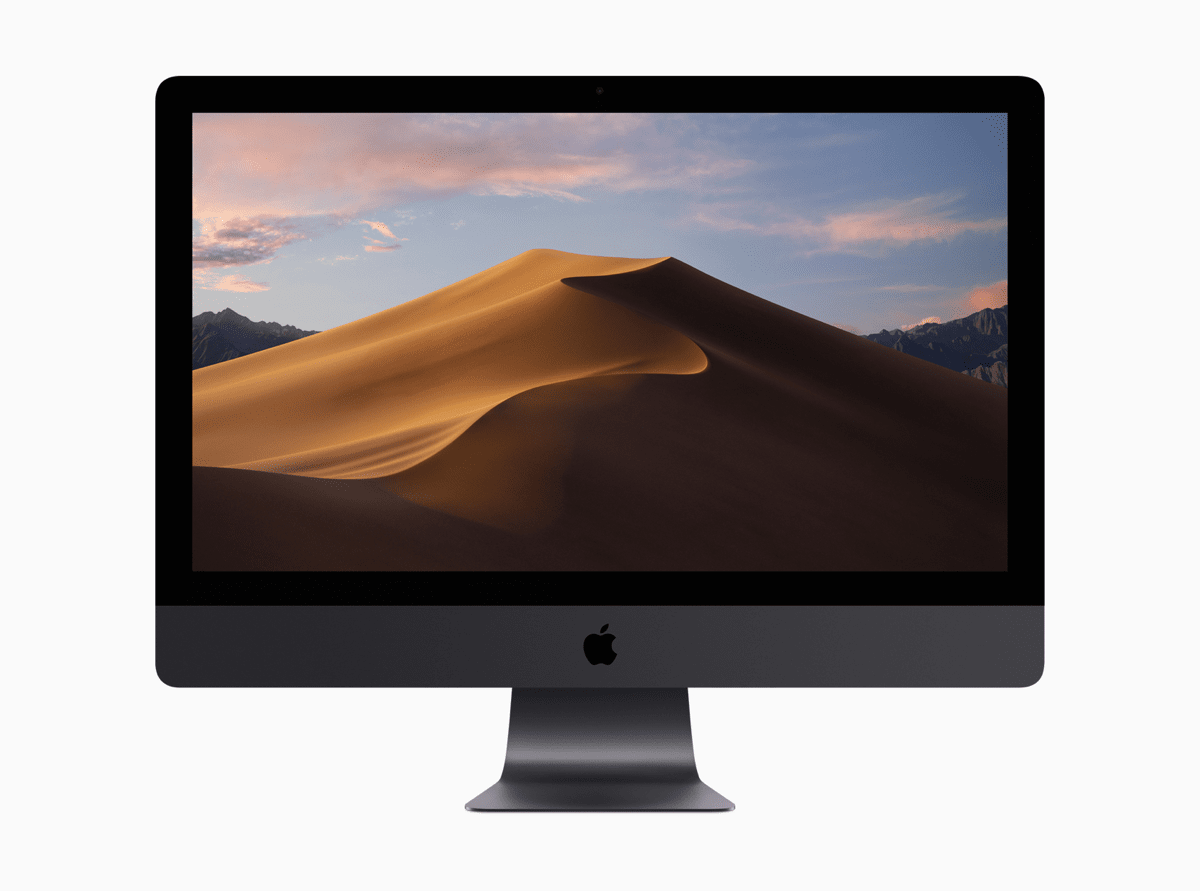 Image of iMac running macOS Mojave in our list of macOS Mojave privacy features.