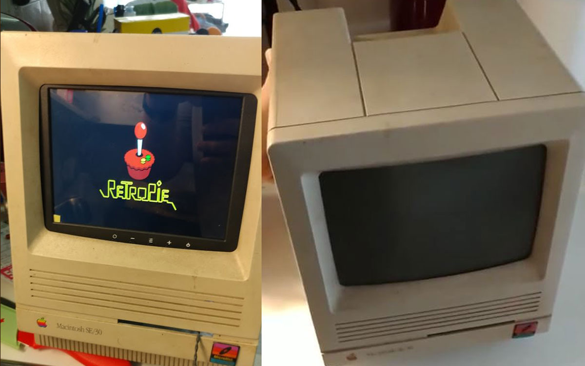 This Dead Macintosh SE/30 is Transformed into a RetroPie Gaming Station