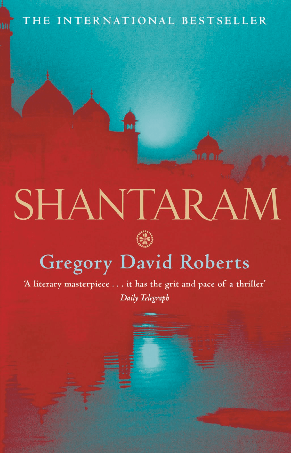 Cover for the Shantaram book.