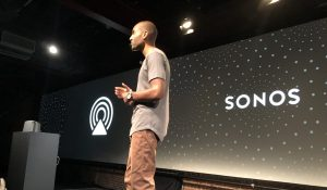 Sonos Allen Mask showing off AirPlay 2