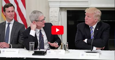 Screenshot from Tim Cook interview on Bloomberg