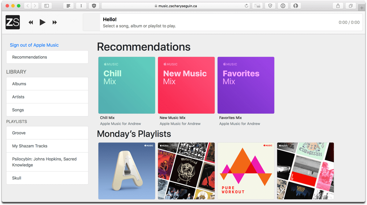 Want an Apple Music Web Player? Try This