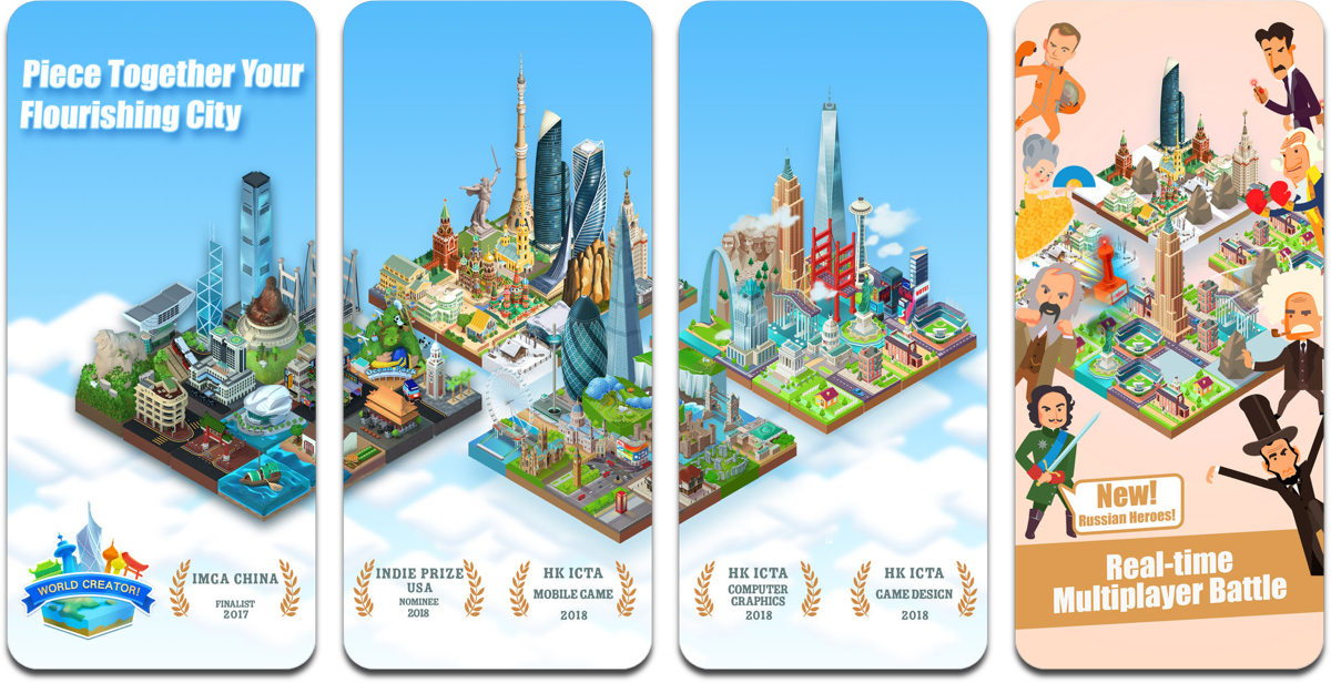 This World Creator App is a 2048 Building Simulator Game