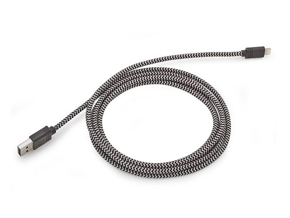 10-Foot Cloth MFi-Certified Lightning Cable: $14.99