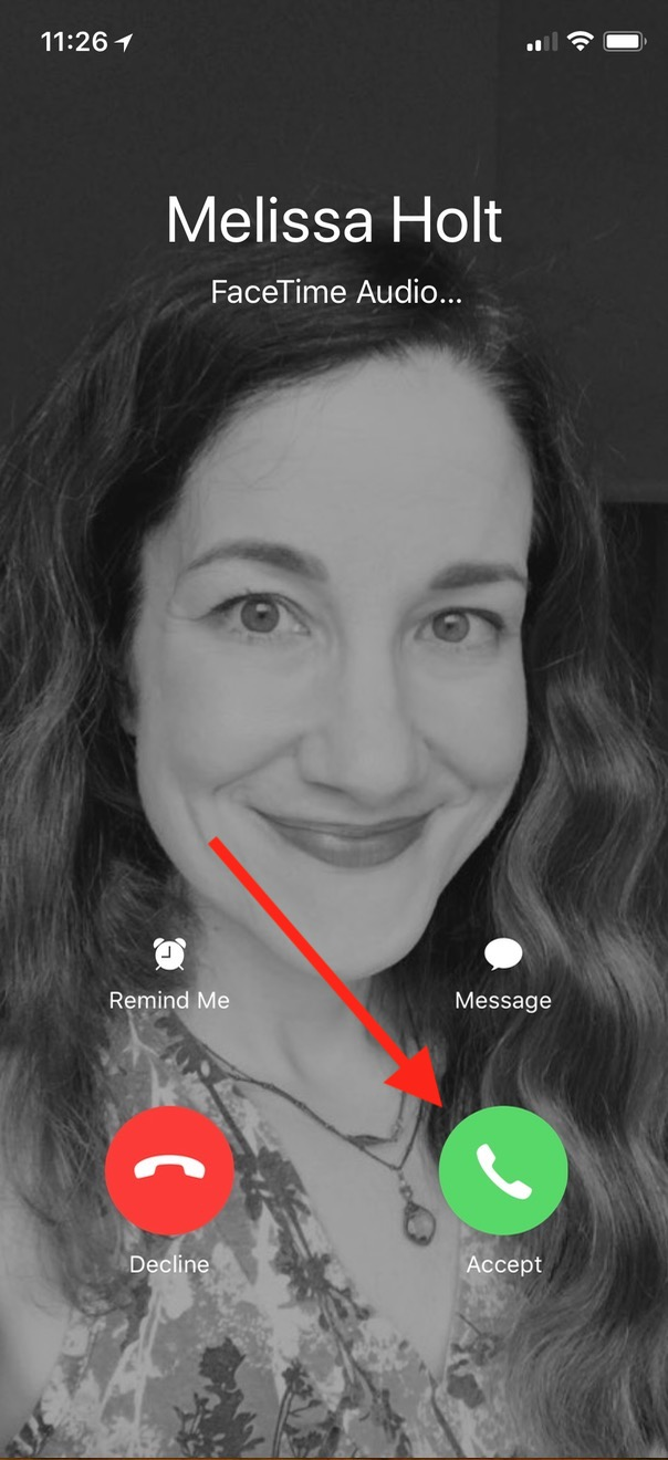Answering a Call on iPhone with Call Audio Routing set