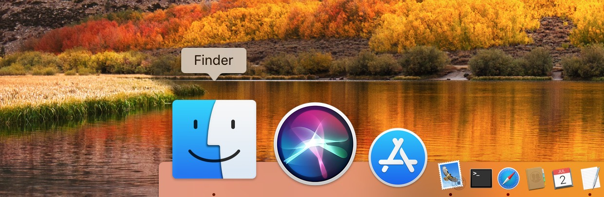 Click the Finder Icon in the Dock on your Mac to jump to the Finder