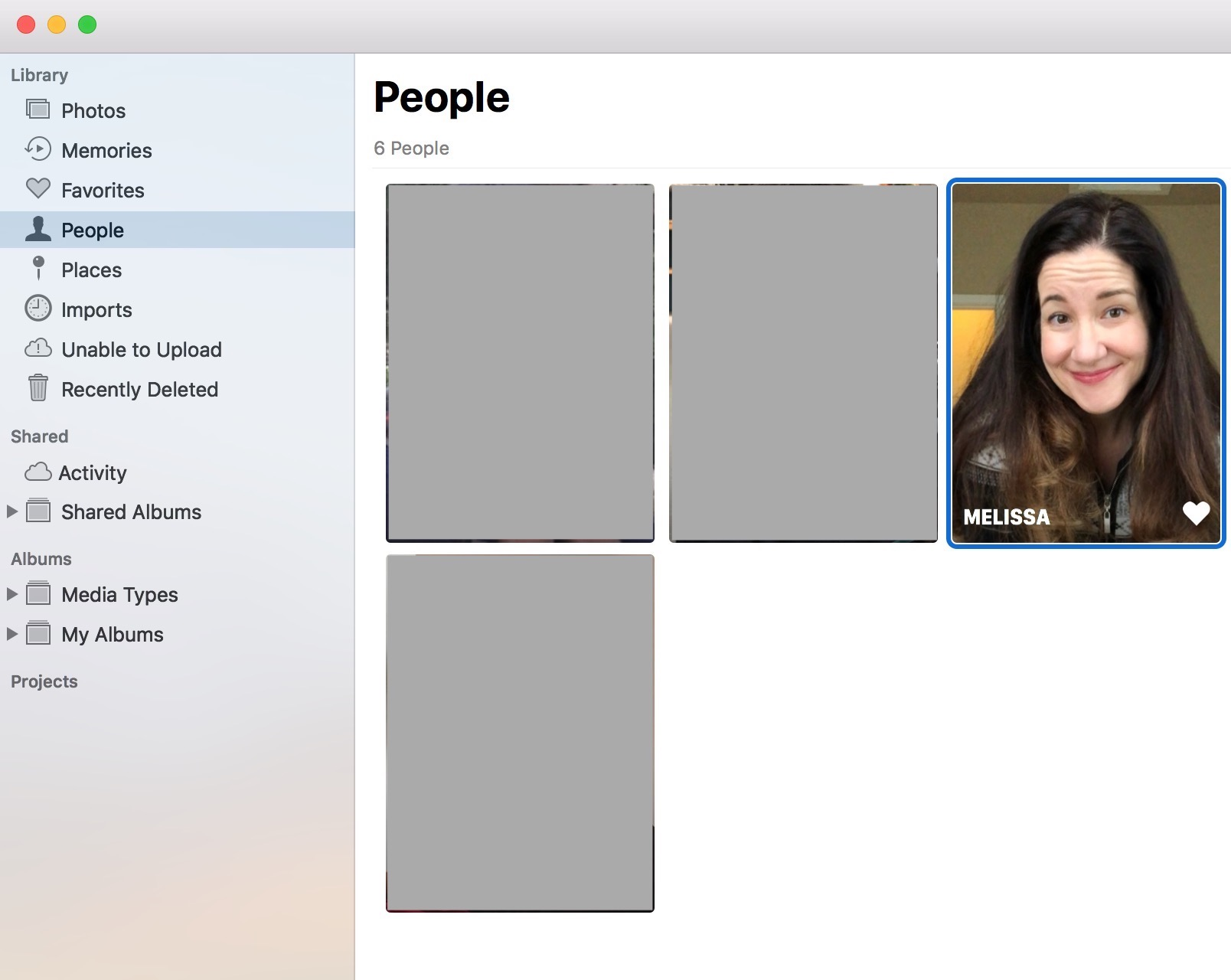 """People"" View in Photos on the Mac"