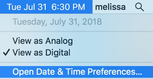 """""""Open Date & Time Preferences"""" from Mac Menu Bar"""