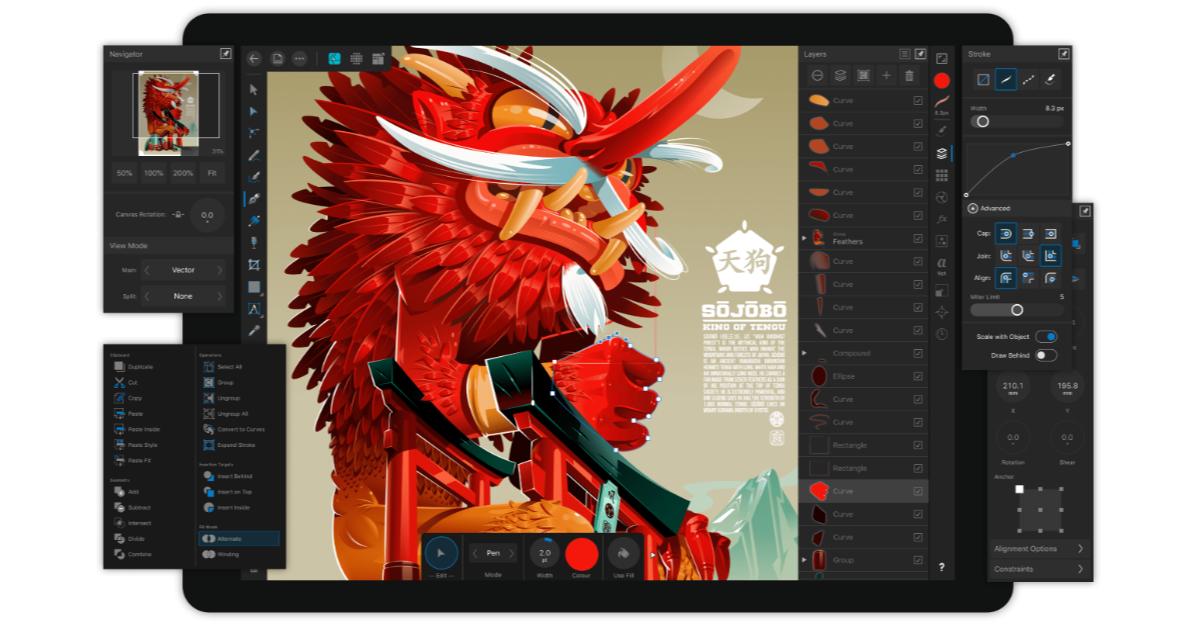 Affinity Designer Comes to iPad