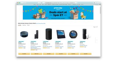 Echo price cuts for Amazon Prime Day 2018