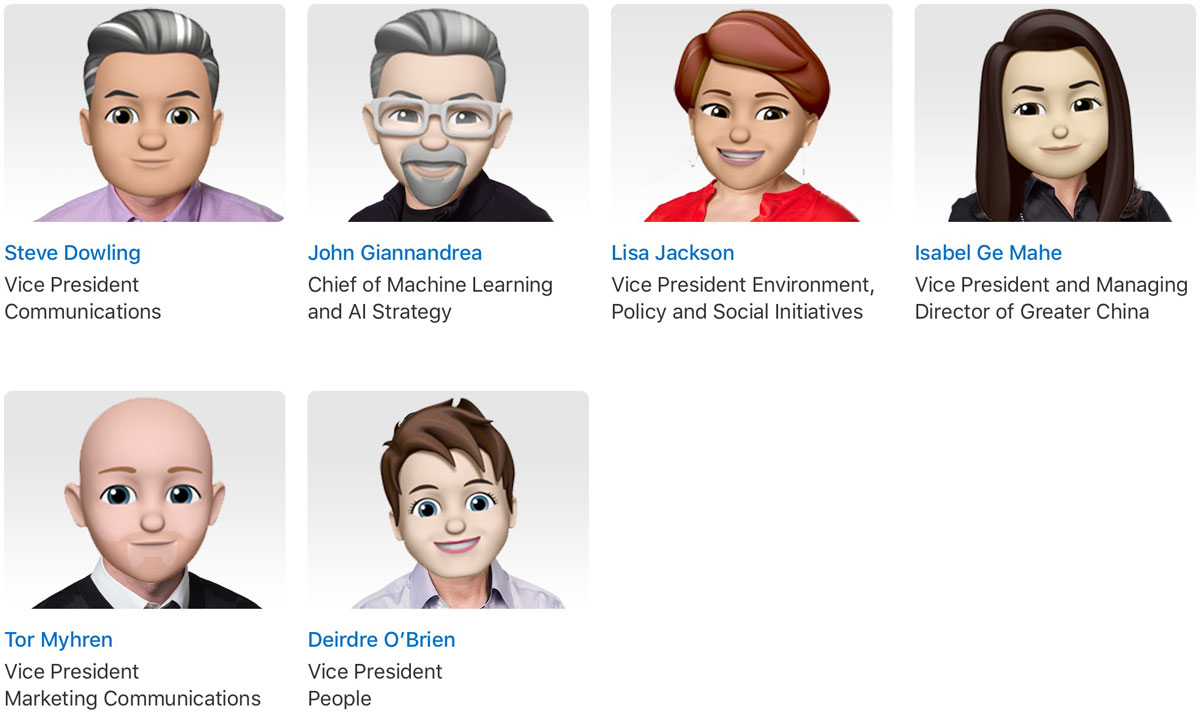 More of Apple's Leadership in Memoji