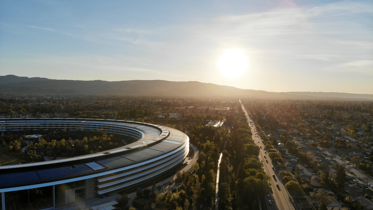 Image of Apple Park in Cupertino. Apple opposes Cupertino tax proposal.