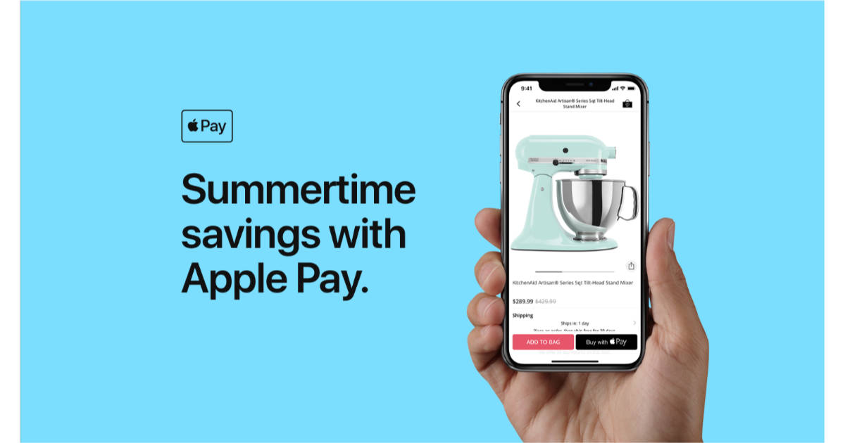 Apple Pay summertime discount promotion