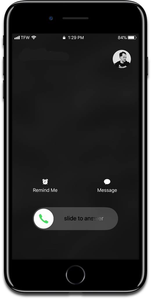 Decline a call with the power button when the iPhone is locked.
