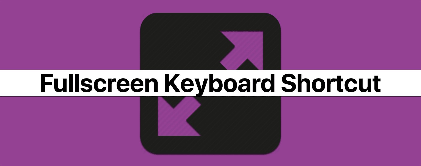 macOS: Entering Fullscreen Mode With a Keyboard Shortcut - The Mac