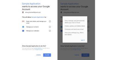 Google account access consent screen