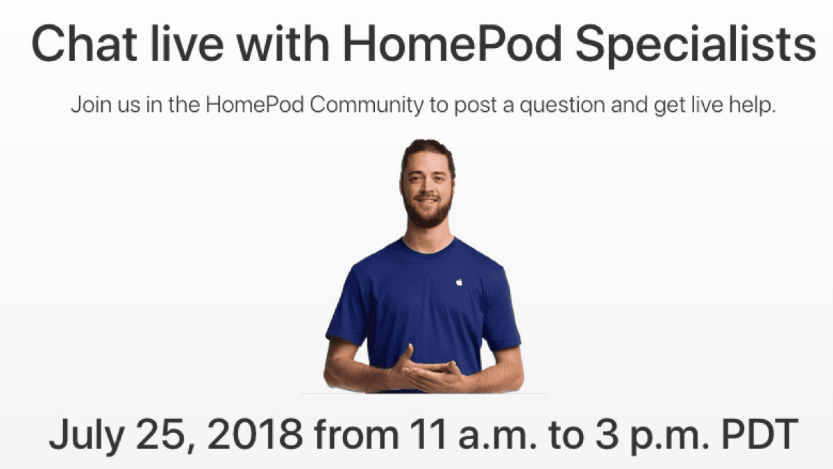 Image showing the upcoming HomePod QA session.