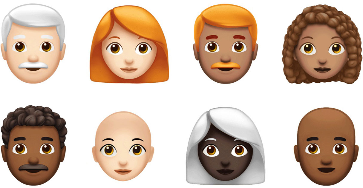 New hair options for customizing emojis in iOS 12