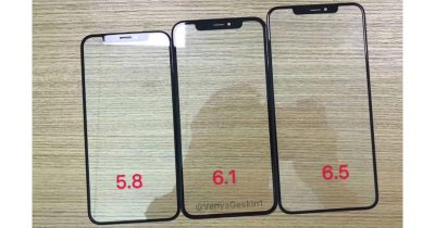 Leaked front glass panels for 2018 iPhone lineup