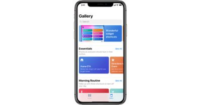 iOS 12 Shortcuts app on iPhone X